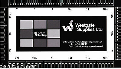 Westgate Supplies Stamp Perforation Gauge / Guide / Measure - Double Sided