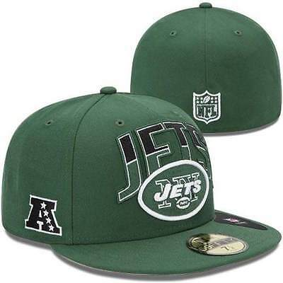 b6e64346 NEW YORK JETS New Era NFL Draft On Stage 59FIFTY Cap Hat Lid Flat ...