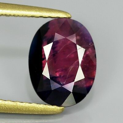 2.05ct 9x7mm Oval Natural UNHEATED Bi-Color Pink & Blue SAPPHIRE, WINZA