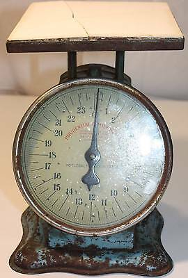 Antique Prudential Family Scale Patent Date October 29 1912 Blue