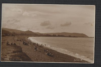 Blue Anchor, Old Cleeve beach vintage RP Postcard zd221