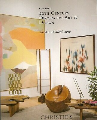 Sotheby's 20th Century Deco Design Art Auction Catalog March 2010