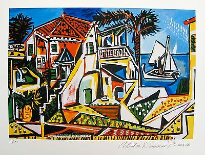 Pablo Picasso MEDITERRANEAN LANDSCAPE Estate Signed & Numbered Small Giclee