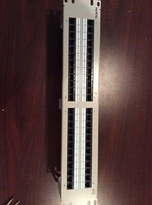 48 Port Cat 5 RJ45 Rack Mount Patch Panel