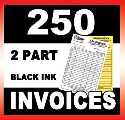250 SETS 2 PART CARBONLESS INVOICES FORMS CUSTOM PRINTED ON TOP QUALITY PAPER