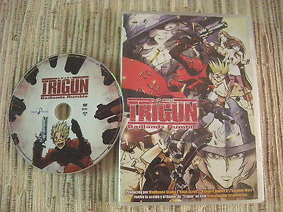 Dvd Anime Pelicula Trigun Badlands Rumble Selecta Visión Usado Buen Estado