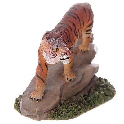 Bengal Tiger On Rock Figurine