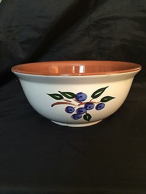 "Vintage STANGL Mid Century Blueberry 9"" Mixing Bowl ~ Rare & Hard to Find"