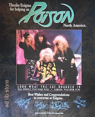 "POISON - THANKS ENIGMA, US 13.5"" x 11"", US  PRESS ADVERT/AD 1987"