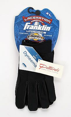 Franklin Uniforce Laceration Resistant 2nd Skins II  Dyneema Tactical Gloves XL