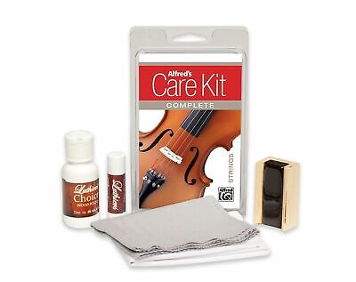 Alfred's Care Kit Complete For Violin *NEW* Inc. Rosin, Violin Polish & Cloth