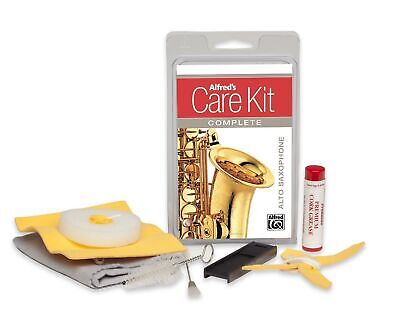 Alfred's Care Kit Complete For Alto Saxophone *NEW* Inc. Swabs, Brushes & Grease