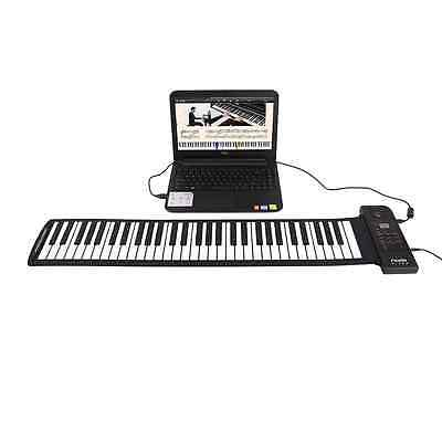 NEW 61 Keys  Rubberized Flexible Roll up Roll-up Electronic Piano Keyboard Wired