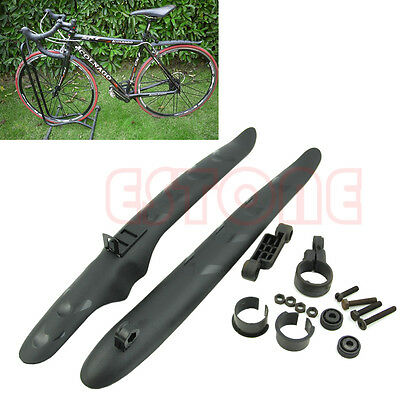 Cycling Bicycle Bike Front Rear Mud Guards Mudguard Fenders Set fr Mountain Road