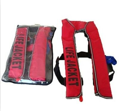 Adult Automatic Manual Inflatable Life Jacket 150N Buoyancy Aid Sailing Boating