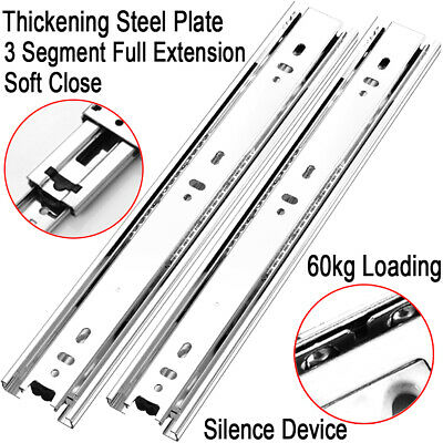 10''- 28'' Pair Heavy Duty 60kg Fully Extension Ball Bearing Drawer Slide Runner