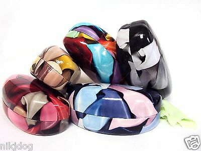 Hard Clam Shell Cases for Sunglasses Readers Eyeglasses Assorted Colors Styles