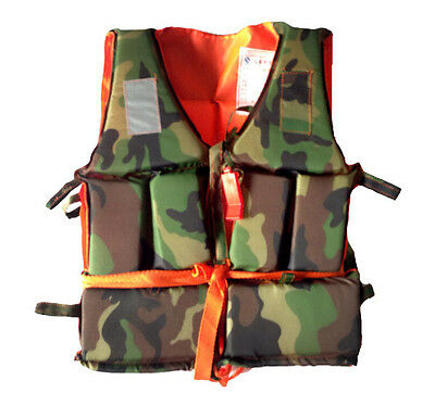 Camo Child Kids Life Jacket Swimming Buoyancy Aid Vest fits for 5~12 YRS