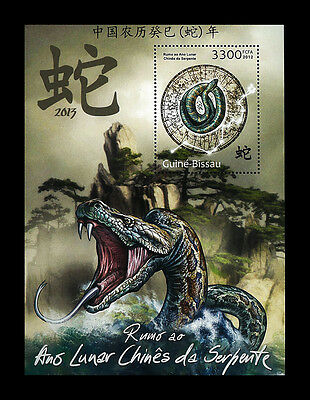 Guinea Bissau 2012 Stamp, GB1201D Chinese Snake of the year 2013,S/S