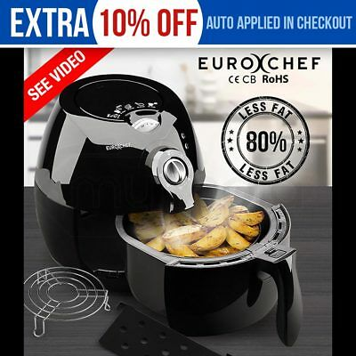 EuroChef Air Fryer Low Fat Oil Free Healthy Deep Multifunction Kitchen Cooker