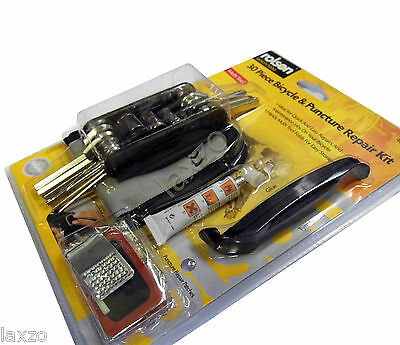 Rolson Bike Repair Tool Kit Cycle Bicycle Maintenance Kit Tyre Puncture