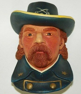 BOSSON LEGEND PRODUCTS COLONEL GEORGE A CUSTARD CHALKWARE HEAD SIGNED F WRIGHT