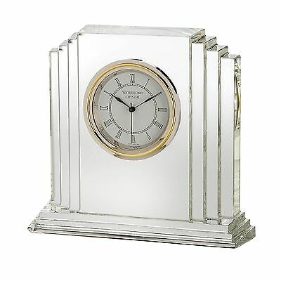 "WATERFORD 6 "" METROPOLITAN CLOCK #9803730062 CRYSTAL BRAND NIB LARGE BARGAIN F/S"