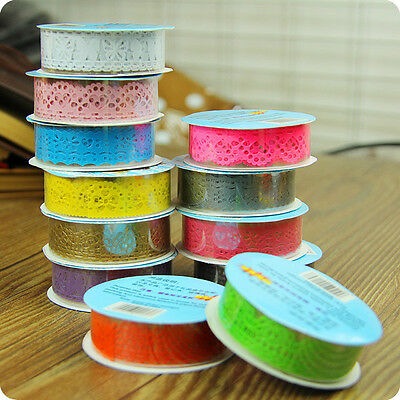 Paper Lace Ribbon Roll DIY Decorative Sticky Paper Self Adhesive Crazy Sale Tape