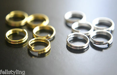 100 Silver or Gold Plated Double Loop Jump Rings - 7mm x 0.7mm (D.45)