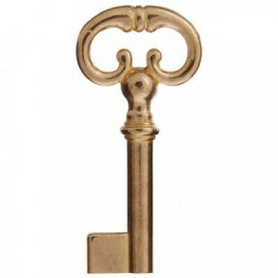 Cupboard Lock Brass Keyblank, Ornate -LQQK! Free Postage!
