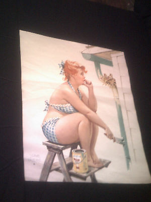 Duane Bryers HILDA Pin-Up print House painting pause at birds nest