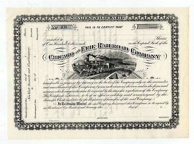 Chicago and Erie Railroad Company Stock Certificate