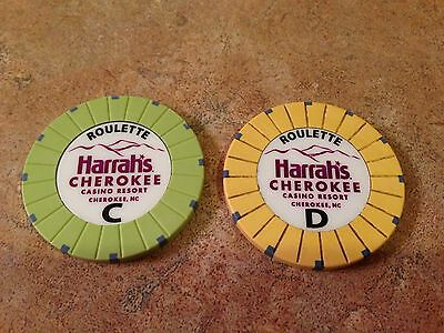 New Harrah's Cherokee Casino $1 Roulette Table Poker Chip from Cherokee, NC.