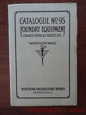 1914 Northern Engineering Works Foundry Equipment Crane Catalog Detroit Antique
