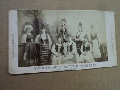 1889 Swedish Ladies National Concerts Opera Company American Tour Photo Antique
