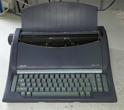 σ (MN) Lovely Rare Vintage Olivetti Dora 201 Electric Typewriter