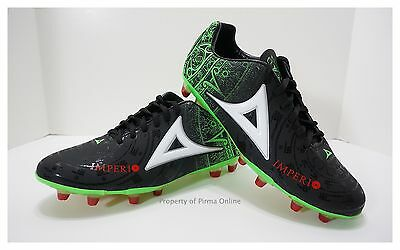 Pirma Soccer Cleats-Style 576-Black/Green/Red-Imperio