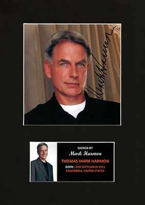 Mark Harmon NCIS Gibbs Signed Autograph Display Mount  12 x 8 in high quality