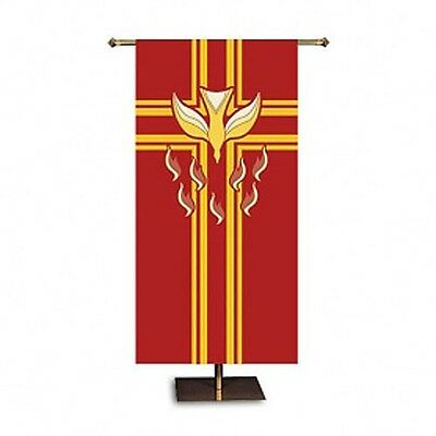 Confirmation & Pentecost Microfiber Polyester Church Banner