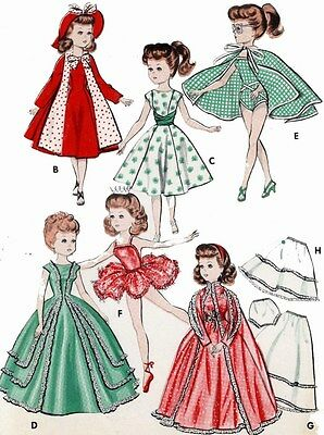 Vintage Doll Clothes PATTERN 8354 for 18 in Miss Revlon Cissy Lilo My Fair Lady
