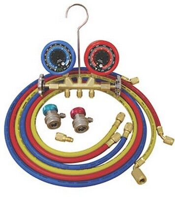 ATD Tools 3694 Deluxe Dual Brass A/C Manifold Gauge Set