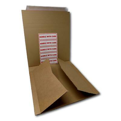 "25 12"" 650gsm Record LP Strong Peel & Seal All Board Card Brown Envelopes Mailer"
