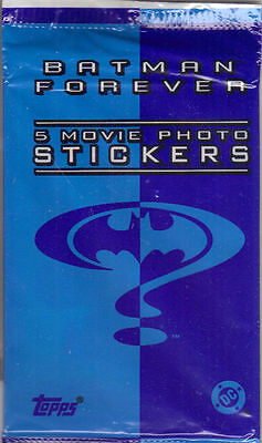 Batman Forever-The Movie 5 Sealed Stickers Packs