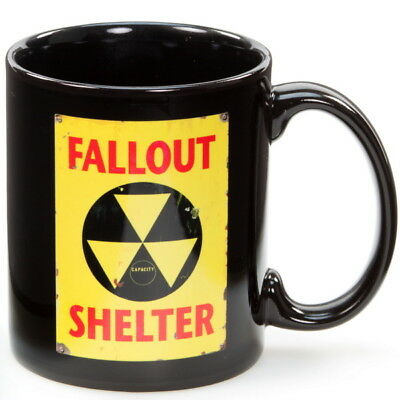 Fall Out Shelter Cold War Coffee Mug Ceramic Microwave Safe Cup 10 oz.