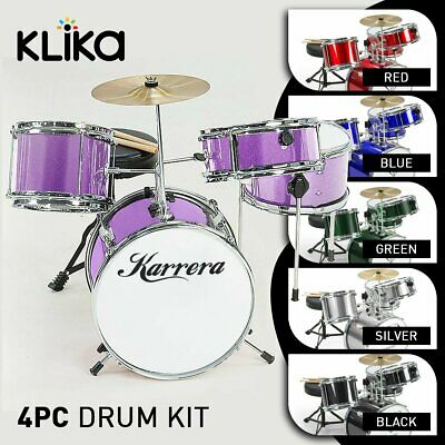 New Childrens 4 Piece Diamond Drum Kit Set Musical Kids Junior Childs Instrument
