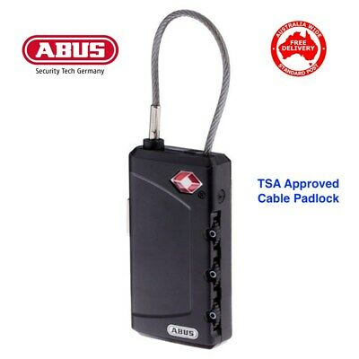 ABUS 30mm TSA Combination Padlock-Luggage, Travel-FREE POST In Australia