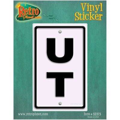 Utah UT State Abbreviation Highway Marker US Travel Vinyl Sticker 2.8 x 4.5