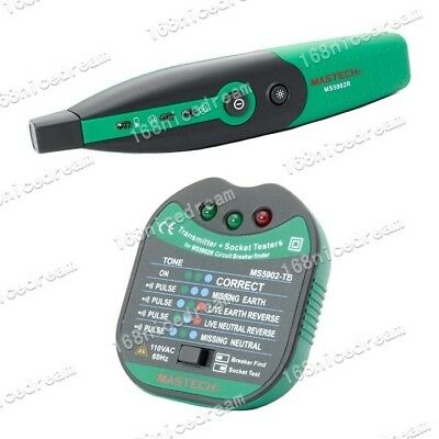 Mastech MS5902 Automatic Circuit Breaker LED Socket Finder Tester Zeroline N0171