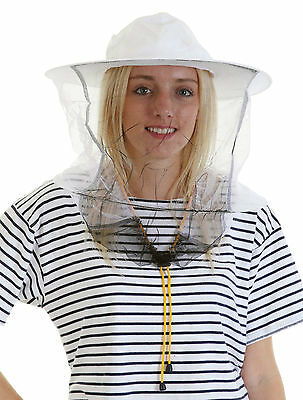 [UK] 5 x Beekeeping White cotton bee hat and Veils TOGGLE