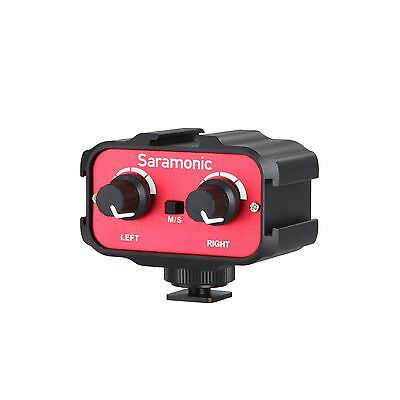 Saramonic SR-AX100 Universal Audio Adapter with 3.5mm Inputs for DSLR Cameras